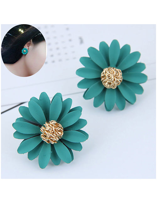 MC. Flower Stud Earrings - Sea Green - Macaroon Collection