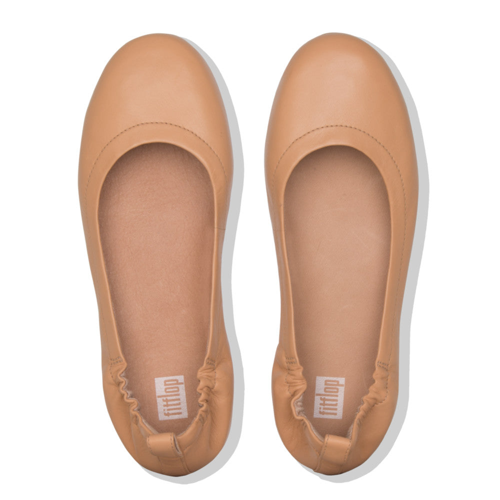 Fitflop Allegro Leather Ballerina - Blush - Macaroon Collection