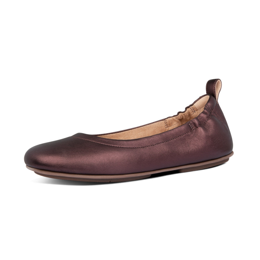 Fitflop Allegro Leather Ballerina - Chocolate Metallic