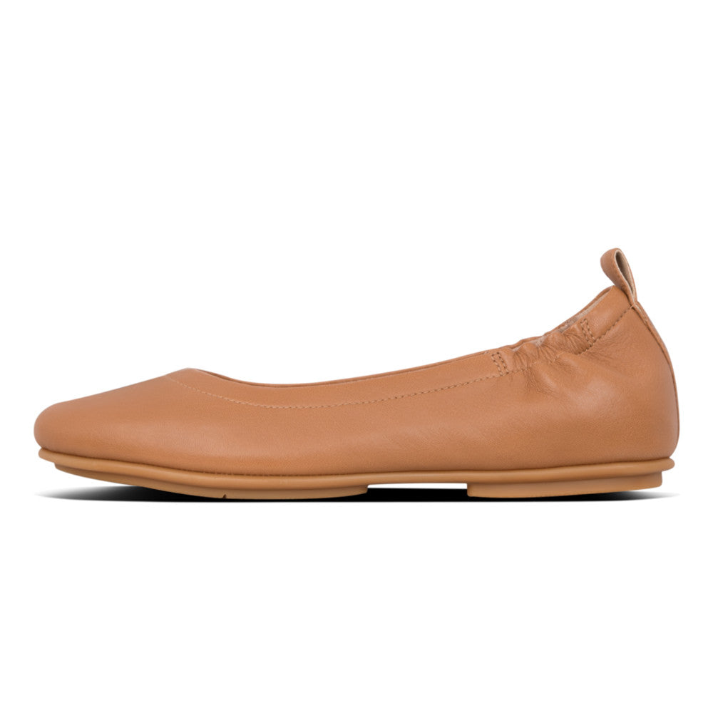 Fitflop Allegro Leather Ballerina - Hazelnut