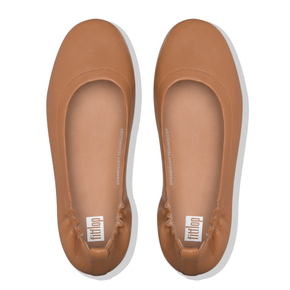 Fitflop Allegro Leather Ballerina - Hazelnut - Macaroon Collection