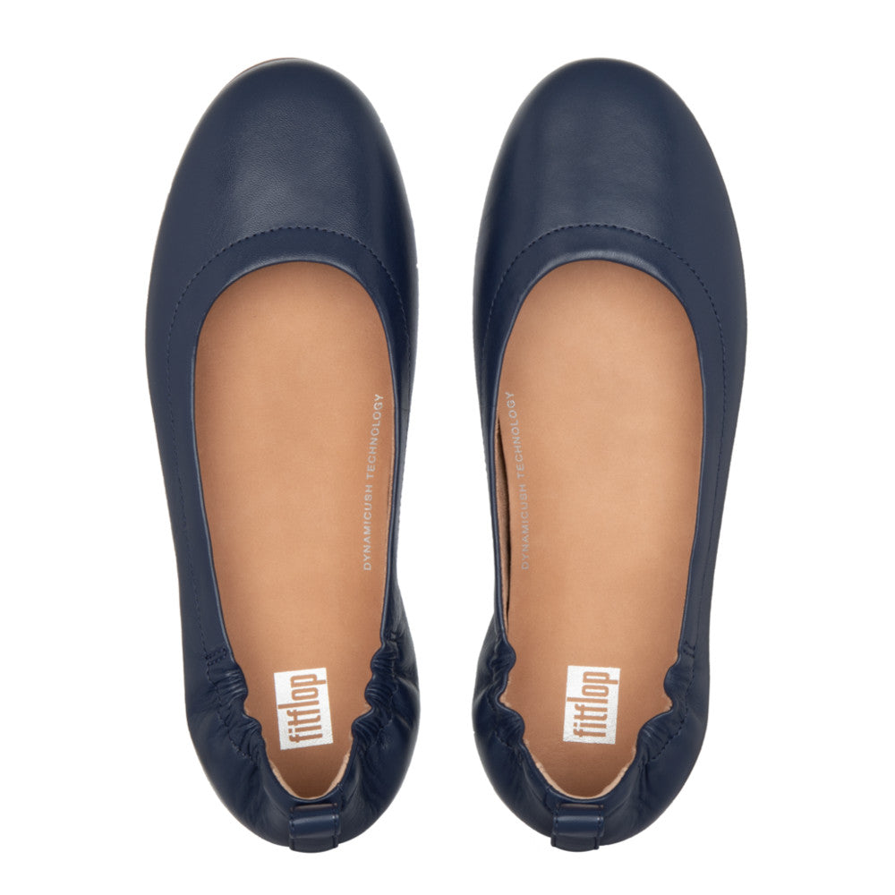 Fitflop Allegro Leather Ballerina - Navy - Macaroon Collection
