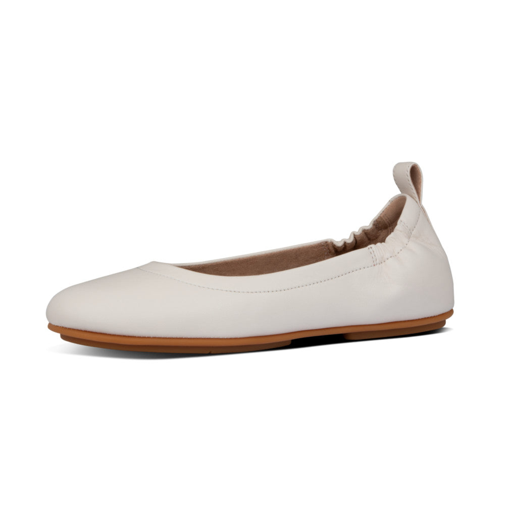 Fitflop Allegro Leather Ballerina - Stone - Macaroon Collection