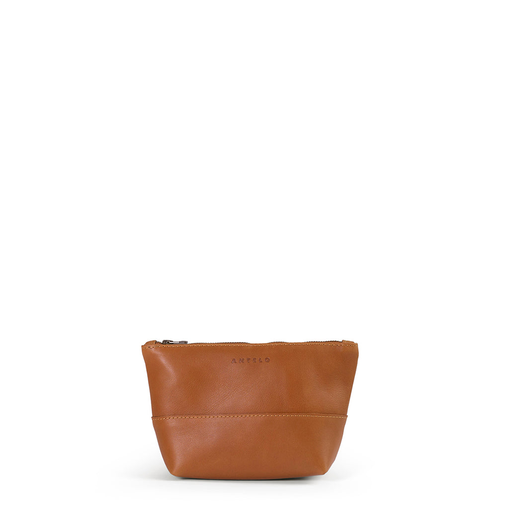 Antelo Alex Leather Unisex Pouch - Cider - Macaroon Collection