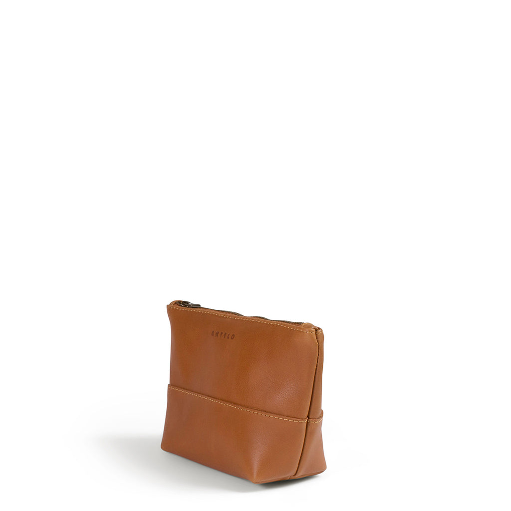 Antelo Alex Leather Unisex Vanity - Cider - Macaroon Collection