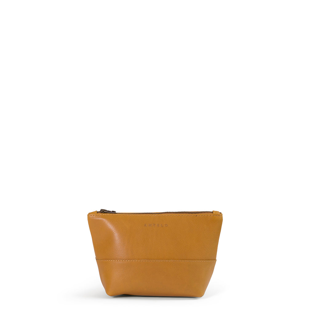Antelo Alex Leather Unisex Vanity - Mustard - Macaroon Collection