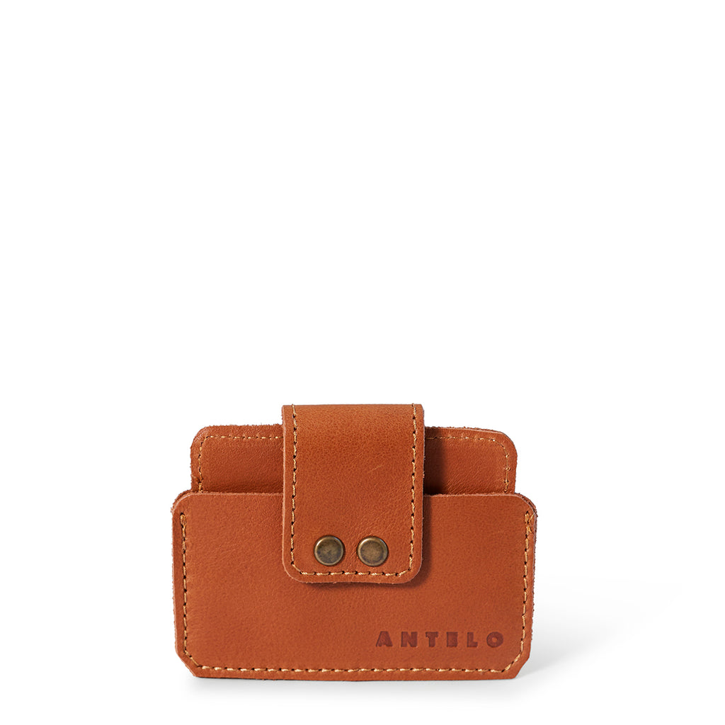 Antelo Cole Leather Card Wallet - Cider - Macaroon Collection
