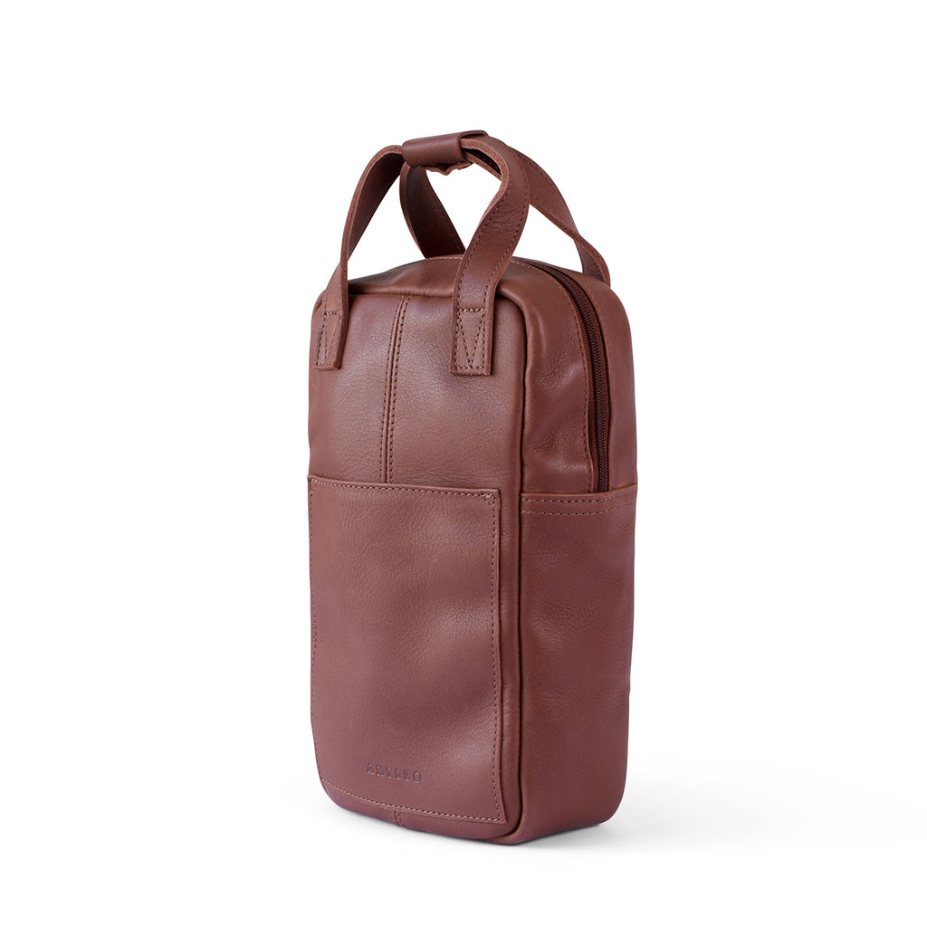 Antelo Hunter Leather Wine Carrier - Tan - Macaroon Collection