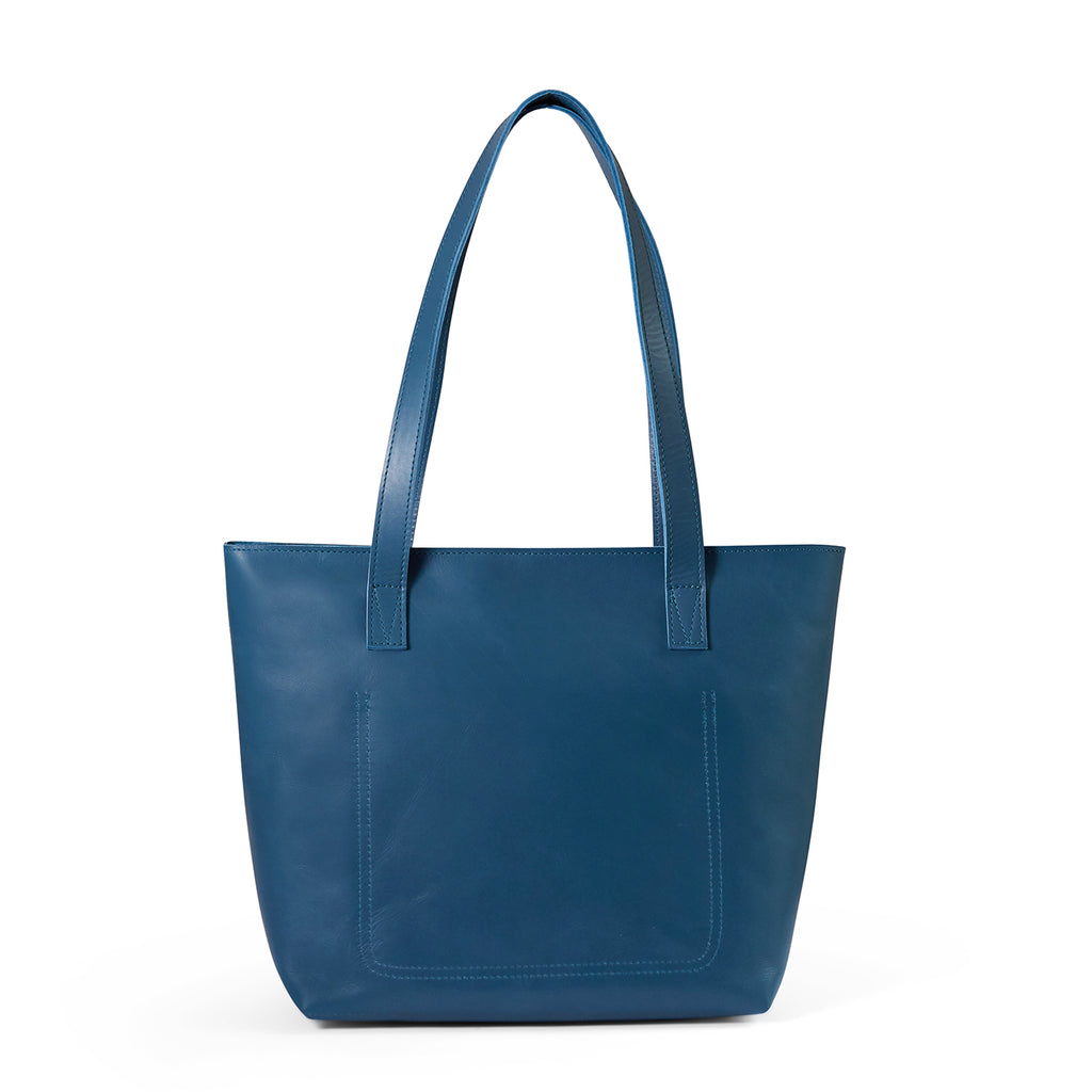 Antelo Emmy Leather Handbag - Hydro Blue - Macaroon Collection