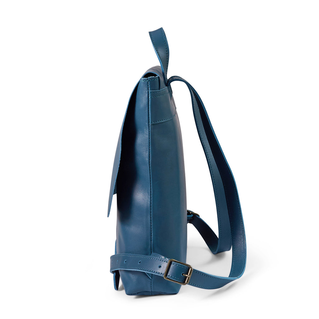 Antelo Henry Leather Backpack - Hydro Blue - Macaroon Collection