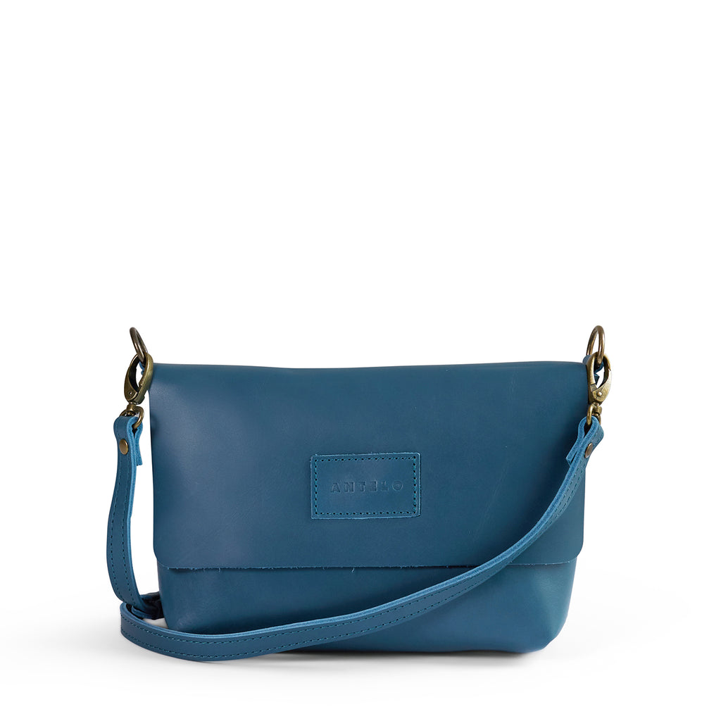 Antelo Jeanie Leather Handbag / Sling - Hydro Blue - Macaroon Collection