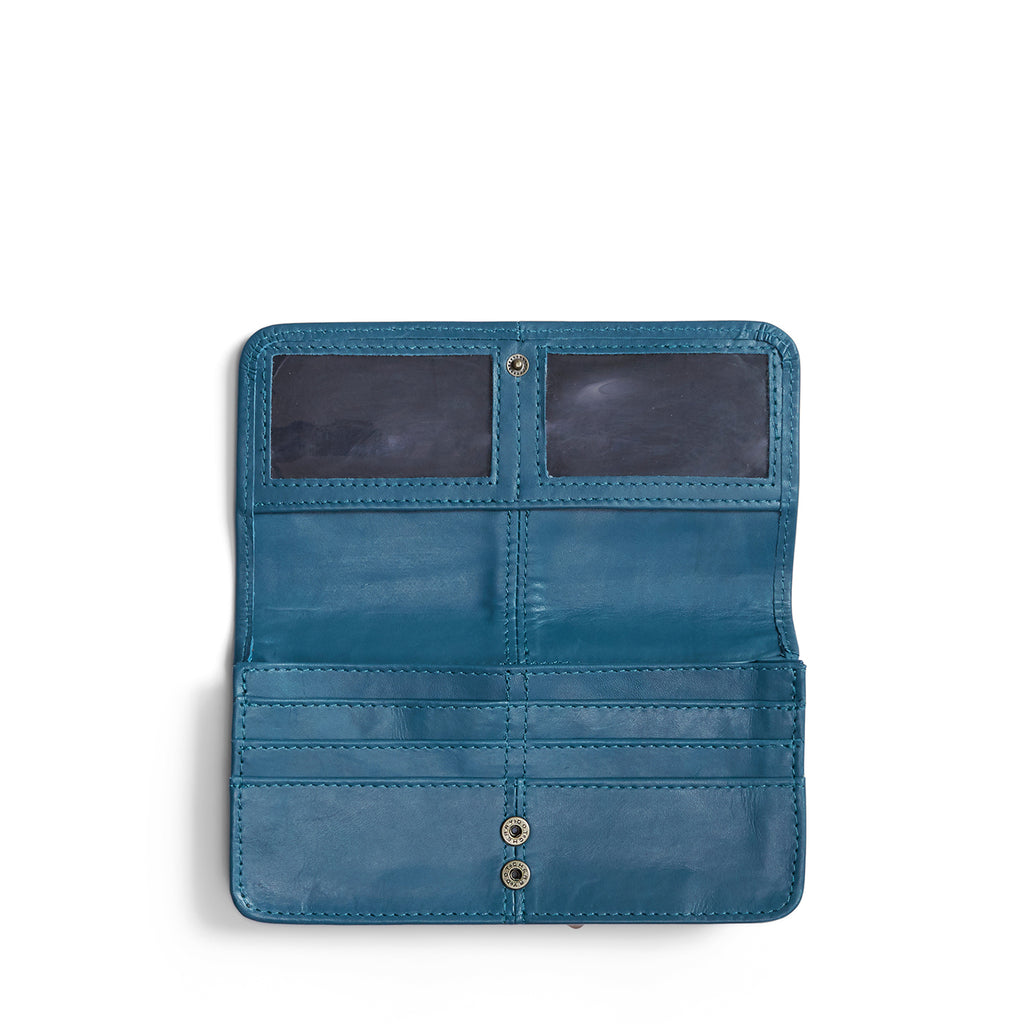 Antelo Gabby Leather Wallet - Hydro Blue - Macaroon Collection