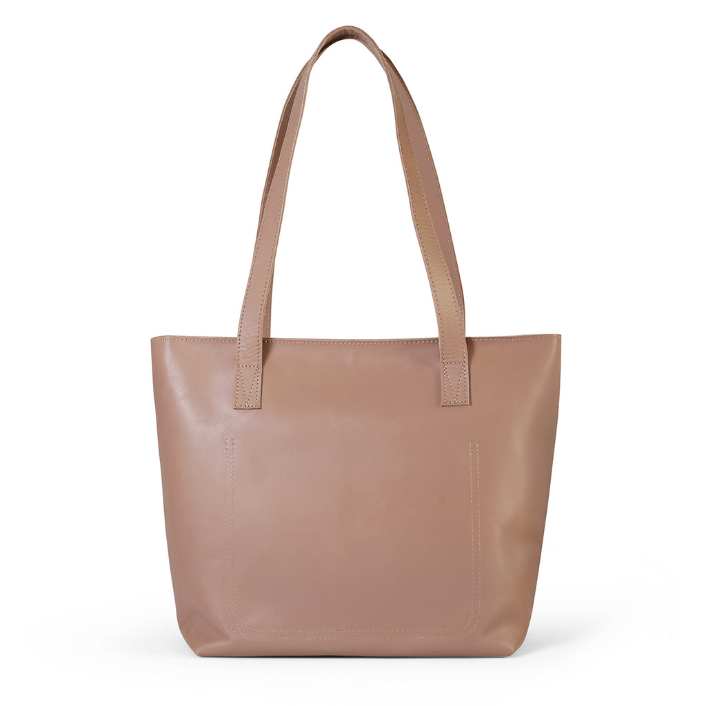 Antelo Emmy Leather Handbag - Sand - Macaroon Collection