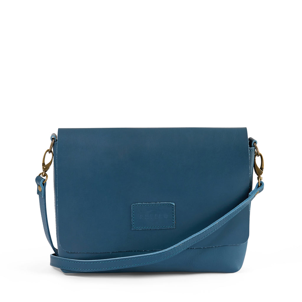 Antelo Jeanie XL Leather Handbag / Sling - Hydro Blue - Macaroon Collection