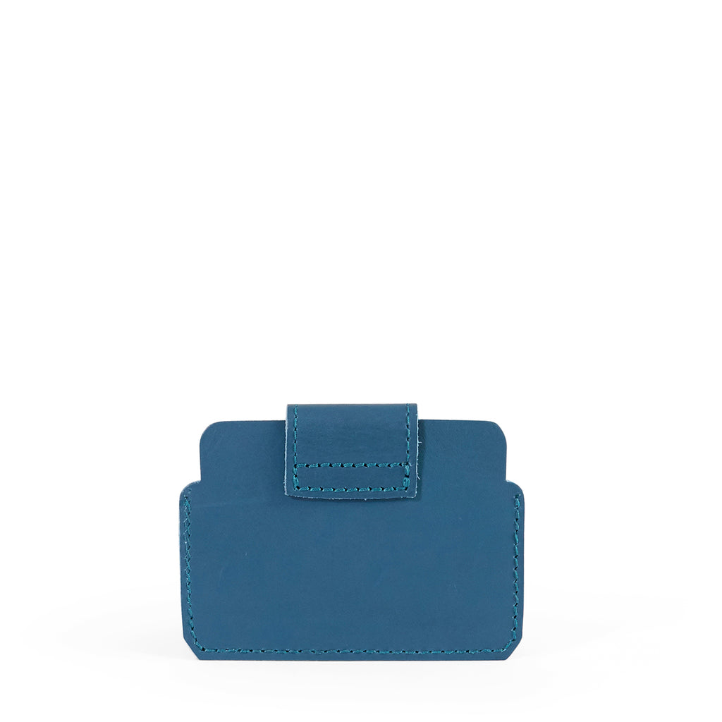 Antelo Cole Leather Card Wallet - Hydro Blue - Macaroon Collection