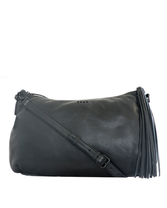 Zemp Audrey Leather Handbag - Black - Macaroon Collection