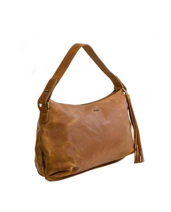 Zemp Audrey Handbag - Waxy Tan / Antique Brass - Macaroon Collection