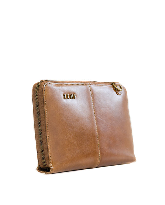 Zemp Ayo Cross-Body Sling Wallet / Clutch - Waxy Tan - Macaroon Collection