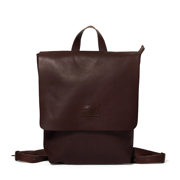 Antelo Henry Leather Backpack - Brown with Tan - Macaroon Collection