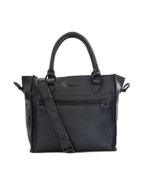 Zemp Bastille Handbag - Black - Macaroon Collection