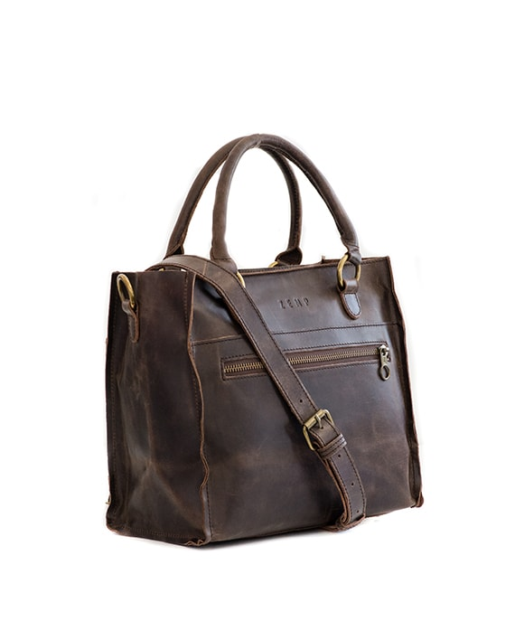 Zemp Bastille Handbag - Waxy Brown / Antique Brass