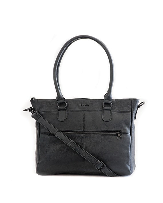 "Zemp Casablanca 13"" Handbag / Laptop Bag - Black - Macaroon Collection"