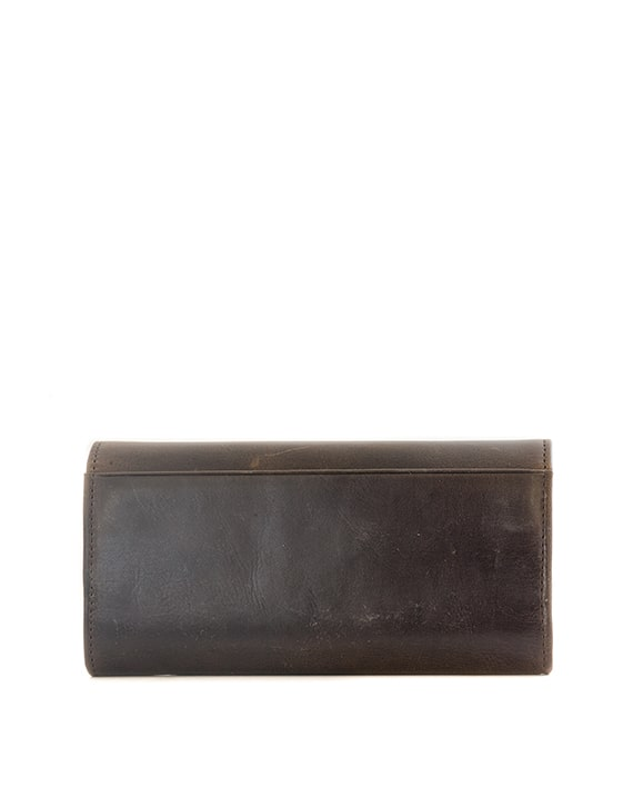 Zemp Claire Wallet - Waxy Brown / Antique Brass - Macaroon Collection