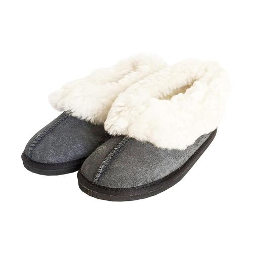 Roon Clog Wool Slippers - Charcoal