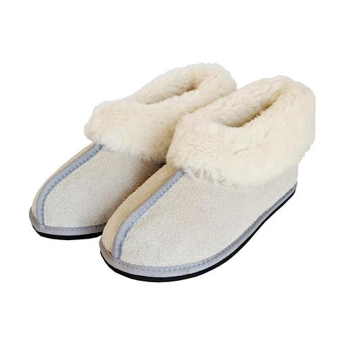 Roon Clog Wool Slippers - Light Grey-Blue