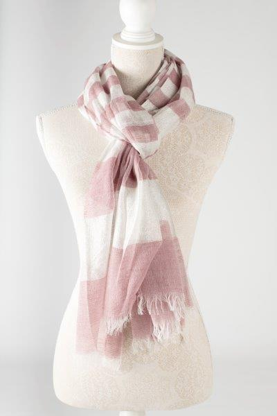 Sale ** Metallic Striped Scarf - Purple - Macaroon Collection