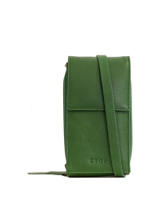 Zemp Dreamer Cross Body Bag - Green / Antique Brass - Macaroon Collection