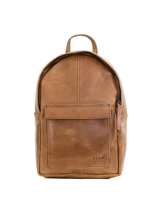 Zemp Go-To Backpack - Waxy Tan / Antique Brass - Macaroon Collection
