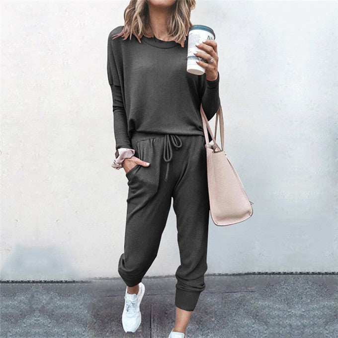 Roon Collective Ladies Loungewear Set - Gunmetal - Macaroon Collection