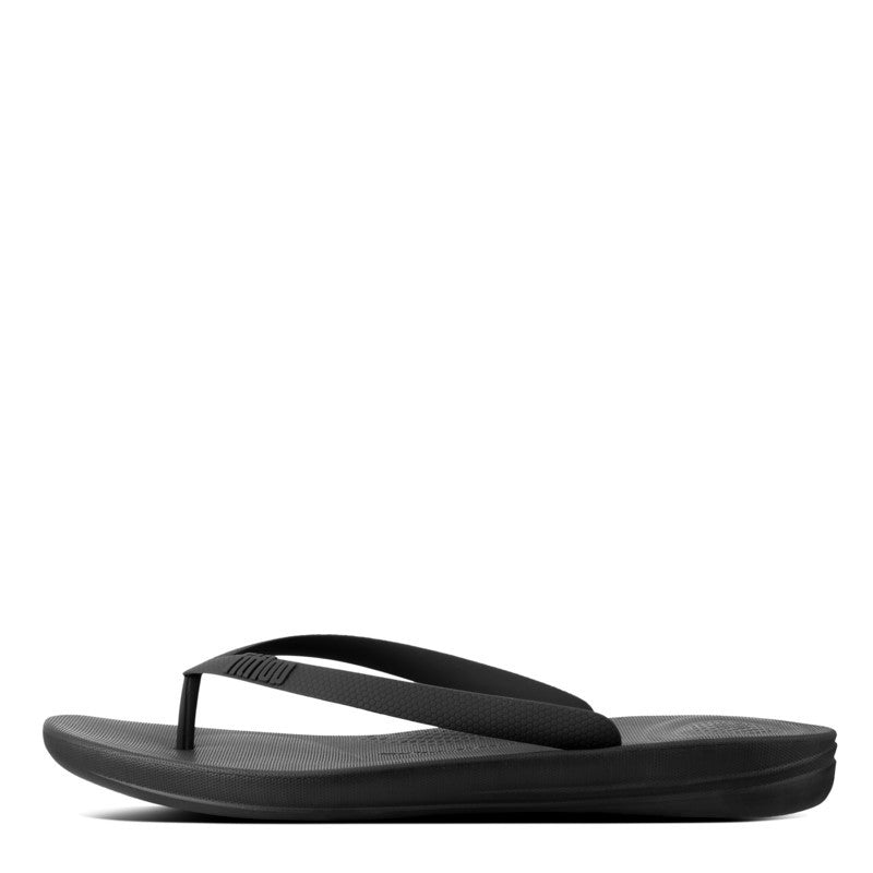 Mens IQUSHION Flip Flop - Black - Macaroon Collection