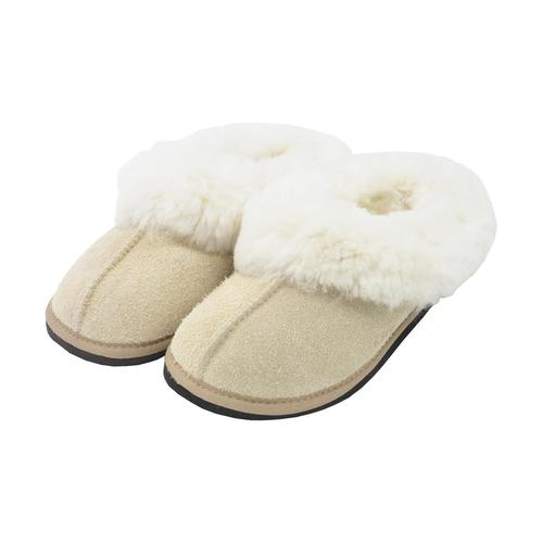 Roon Mule Wool Slippers - Beige