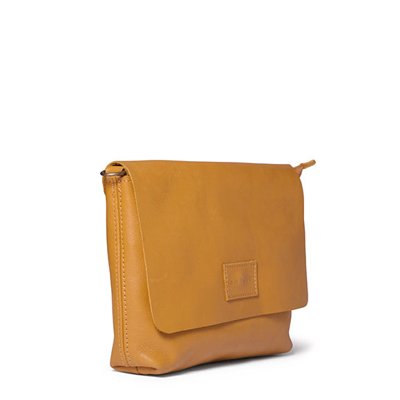 Antelo Jeanie XL Leather Handbag / Sling - Mustard - Macaroon Collection