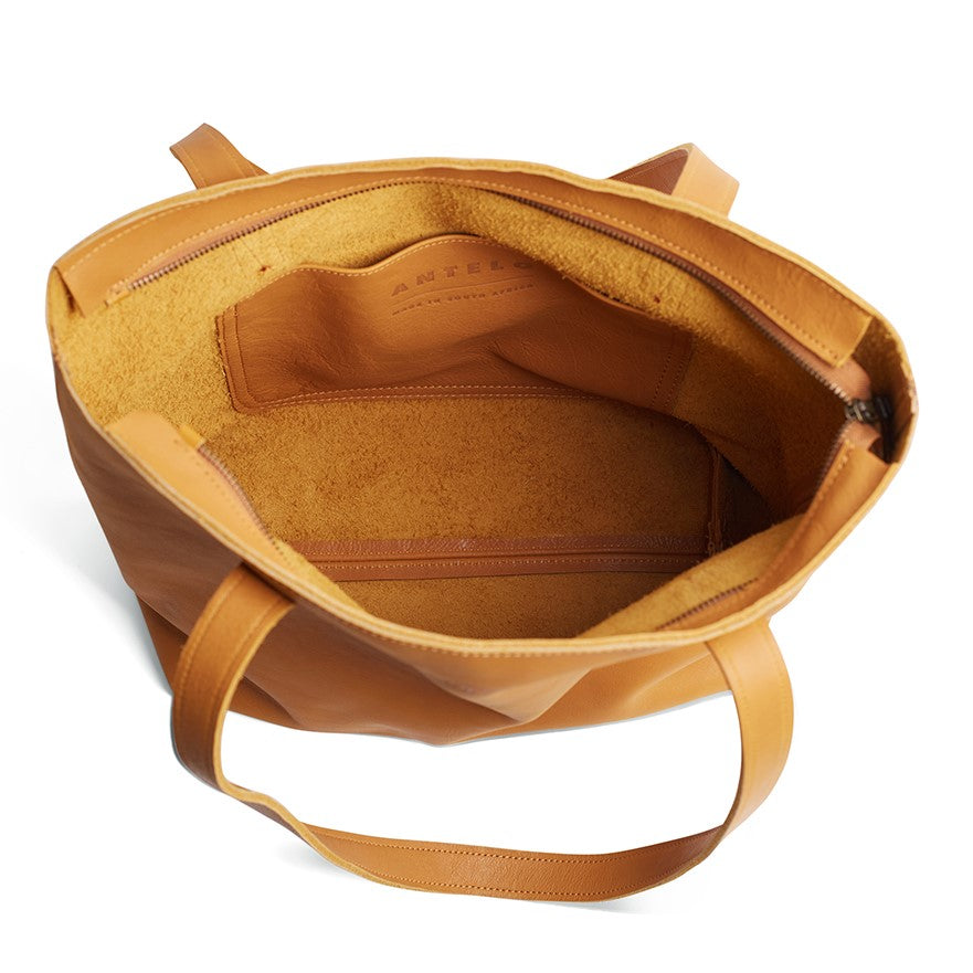 Antelo Emmy Leather Handbag - Mustard - Macaroon Collection
