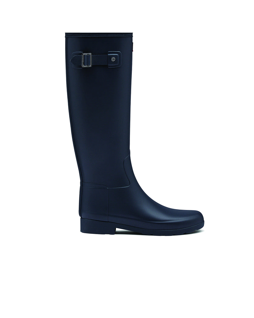 Hunter Boots - Refined Tall - Navy Matt - Macaroon Collection