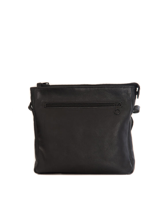 Zemp Pisa Cross-Body Sling Bag - Black - Macaroon Collection