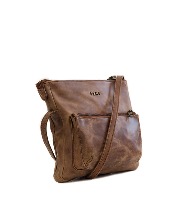 Zemp Pisa Leather Bag - Waxy Tan / Antique Brass