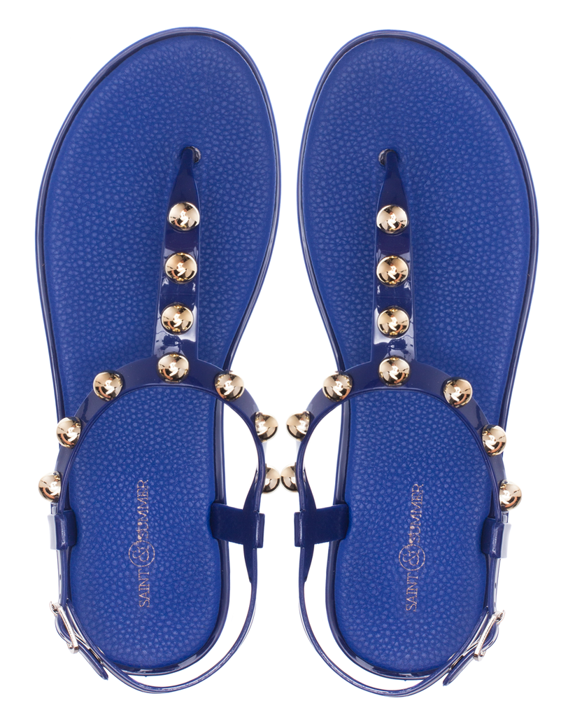 Sale ** Saint & Summer Luxe Jelly Sandal - Navy - Macaroon Collection