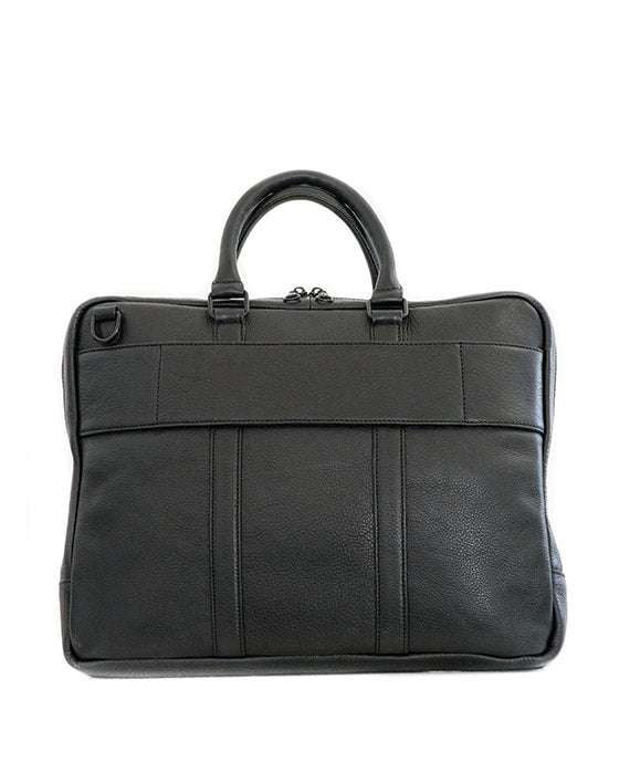 "Zemp Supernova 15"" Leather Laptop Bag - Black - Macaroon Collection"