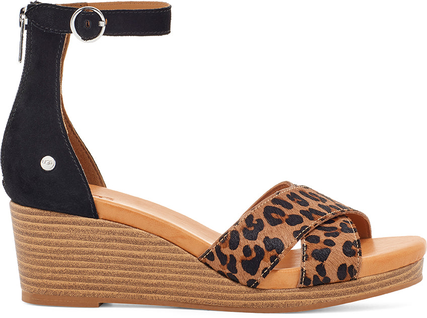 UGG Sandals - Eugenia Wedge - Leopard - Macaroon Collection
