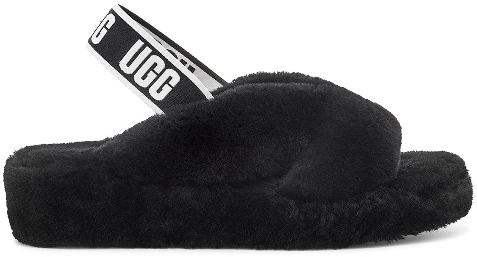 UGG Fab Yeah Slipper - Black - Macaroon Collection