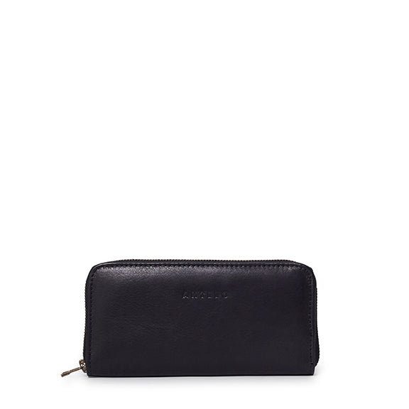 Antelo Hayley Leather Wallet - Black - Macaroon Collection