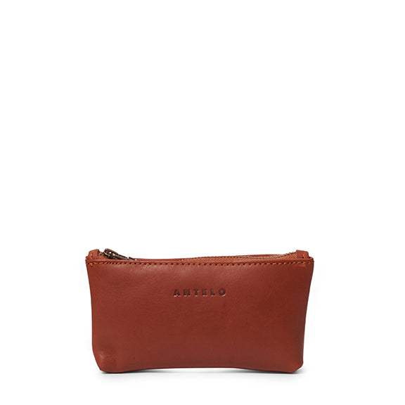 Antelo Sophia Leather Pouch - Tan - Macaroon Collection