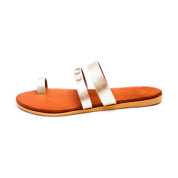 Athena Leather Sandals - click for leather colour options - Macaroon Collection