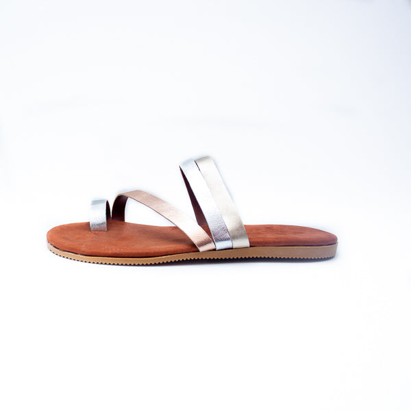 Olivia Leather Sandals - click for leather colour options - Macaroon Collection