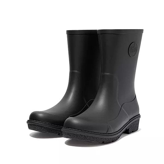 FitFlop WonderWelly Boots - Short Black - Macaroon Collection