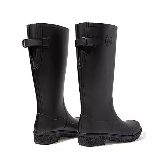 FitFlop WonderWelly Boots - Tall Black - Macaroon Collection